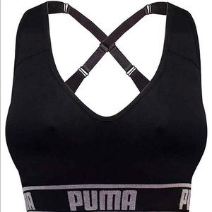 Puma sport bra seamless Bra Black NWT!